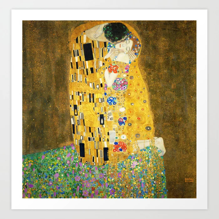 art, art deco, art nouveau, art nouveau style, arts and, austrian, austrian symbolist painter, bronze, classic, fine art, fine art prints, gold, gold leaf, golden, gustav klimt, Gustav Klimt The Kiss, Gustav Klimt The Kiss Art Print, home decor, iconic, jugendstil, kiss, klimt, klimt der kuss, klimt kiss, klimt the kiss, love, lovers, masterpiece, modern, modern masters, modernism, ornamental, Pattern, Patterns, symbolism, symbols, the kiss, victorian, vienna jugendstil, viennese nouveau, vintage, wall decor