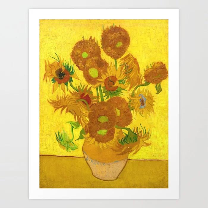 Vincent Van Gogh Fifteen Sunflowers In A Vase Art Print