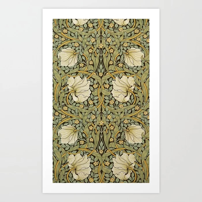 William Morris Pimpernel Art Nouveau Art Print