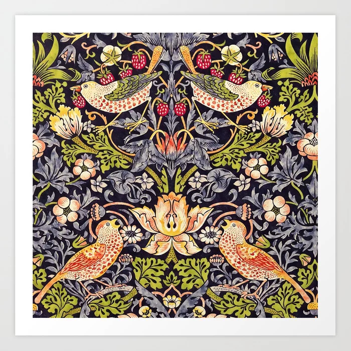 William Morris Strawberry Thief Art Nouveau Art Print